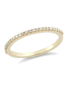 MATEO - 14K Yellow Gold Diamond Bar Ring