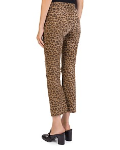 The Kooples - Distressed Cropped Jeans in Leopard Chocolat