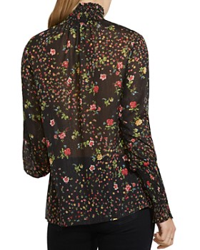 Bailey 44 - Misha Floral Print Smocked Top