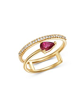 Bloomingdale's - Diamond & Ruby Delicate Ring in 14K Yellow Gold - 100% Exclusive