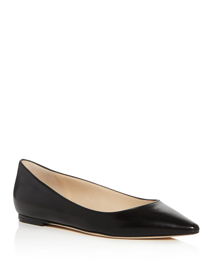 Jimmy Choo - Women's Romy Leather Pointed Toe Ballet Flats