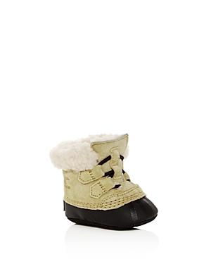 Sorel Girls' Caribootie Suede & Shearling Booties - Baby