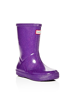 Hunter Girls' First Classic Starcloud Glitter Rain Boots - Walker, Toddler