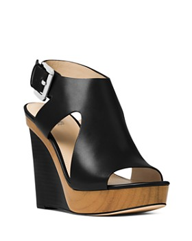 ae4e81fcab39 MICHAEL Michael Kors - Women s Josephine Leather Platform Wedge Sandals ...