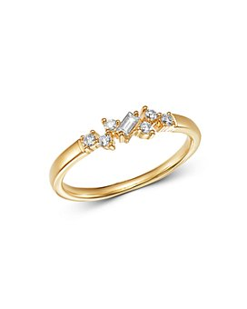 Bloomingdale's - Diamond Geometric Stacking Ring in 14K Yellow Gold, 0.15 ct. t.w. - 100% Exclusive