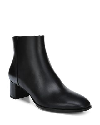 Women's Vail Leather Block Heel Booties by Via Spiga