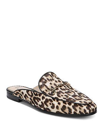 Sam Edelman - Women's Linnie Leopard Print Calf Hair Mules
