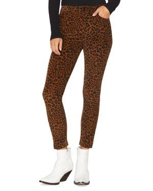 Social Affair Corduroy Skinny Jeans In Leopard
