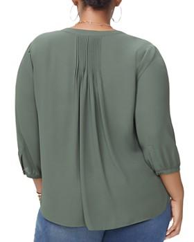 NYDJ Plus - Pleat-Back Blouse