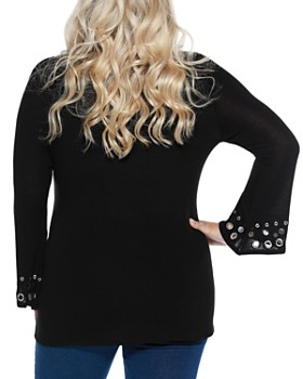 Belldini Plus - Bell Sleeve Embellished Tunic