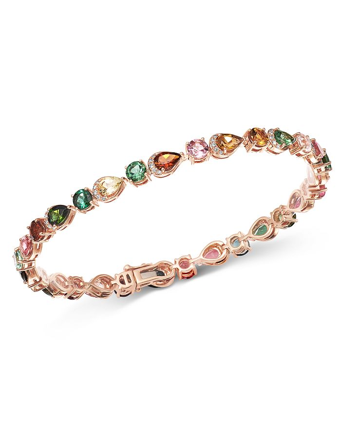Bloomingdale's - Multicolored Tourmaline & Diamond Bracelet in 14K Rose Gold - 100% Exclusive