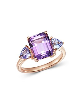 Bloomingdale's - Amethyst & Tanzanite Cocktail Ring in 14K Rose Gold - 100% Exclusive