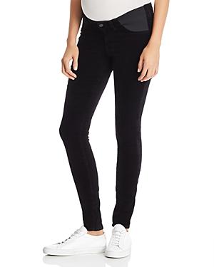0b74da7e86880 J Brand Mama J Super Skinny Velvet Maternity Jeans in Black
