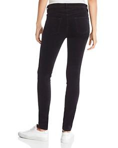 J Brand - Mama J Super Skinny Velvet Maternity Jeans in Black