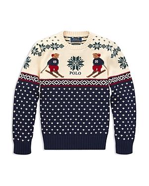 Polo Ralph Lauren Boys Polo Bear Intarsia Sweater  Big Kid