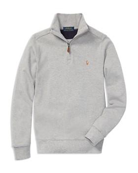 Ralph Lauren - Boys' Supima® Quarter-Zip Sweater - Big Kid