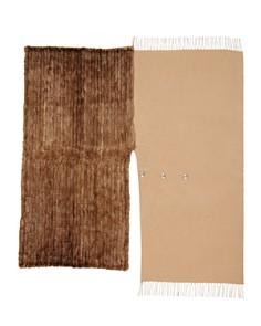 Max Mara - Saetta Mink Fur & Cashmere Wrap