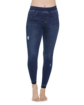 SPANX® - Distressed Denim Skinny Jean Leggings