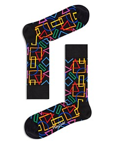Happy Socks Geometric-Print Socks - Bloomingdale's_0