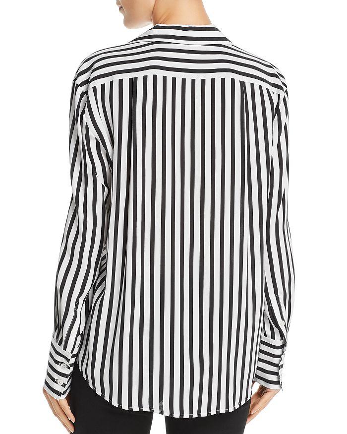 6c7f749f6d344d FRAME - Striped Silk Blouse