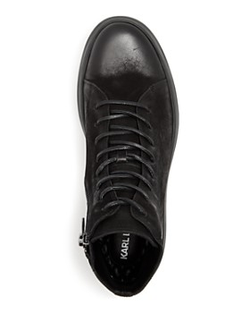 KARL LAGERFELD Paris - Men's Nubuck Leather High Top Sneakers
