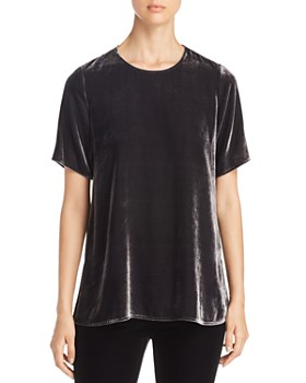 Eileen Fisher - Short-Sleeve Velvet Tee