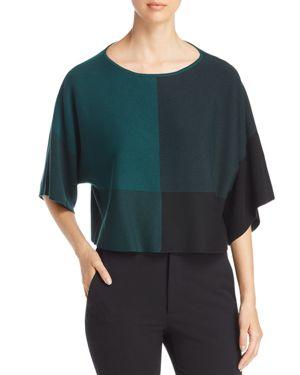 Eileen Fisher Petites Color Block Kimono Sleeve Top