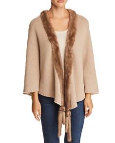 Max Mara Mink Fur-Tassel Cashmere Wrap - Bloomingdale's_0