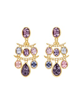 Temple St. Clair - 18K Yellow Gold Seta Diamond & Spinel Small Fringe Earrings