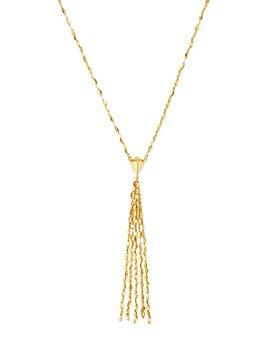 "Moon & Meadow - 14K Yellow Gold Tassel Drop Necklace, 17"" - 100% Exclusive"