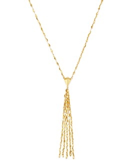 "Moon & Meadow - 14K Yellow Gold Tassel Drop Necklace, 17"" - 100% Exclusive"