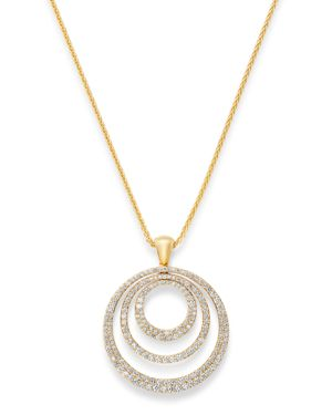 Bloomingdale's Diamond Circle Pendant Necklace in 14K Yellow Gold, 2.0 ct. t.w. - 100% Exclusive