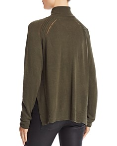 Velvet by Graham & Spencer - Side-Slit Turtleneck Sweater - 100% Exclusive