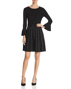 Design History - Contrast-Stitch Fit-and-Flare Dress