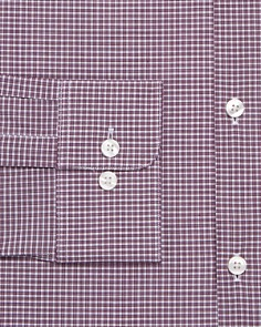 John Varvatos Star USA - Micro-Check Regular Fit Dress Shirt