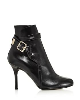 Chloé - Women's Scott Round Toe Leather High-Heel Booties