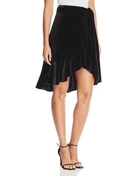AQUA - Velvet Wrap Skirt - 100% Exclusive