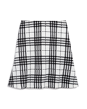 Aqua Girls Textured Plaid Skirt Big Kid  100 Exclusive
