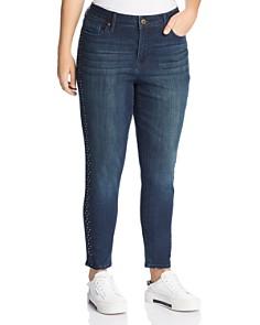 Seven7 Jeans Plus - Stud-Trimmed Jeans in Horizon Wash