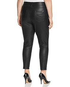 Seven7 Jeans Plus - Faux-Leather Skinny Jeans