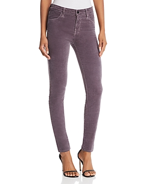 J Brand Maria Skinny Velvet Jeans in Dark Whistle