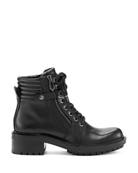 Botkier - Women's Moto Leather Lace Up Booties