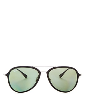 Ray-Ban - Unisex Brow Bar Aviator Sunglasses, 57mm