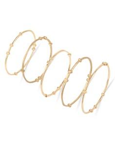 Robert Lee Morris Soho - Mixed Beaded Bangle Bracelet Set