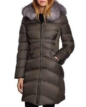 Dawn Levy - Cloe Saga Fur Trim Mid-Length Down Coat