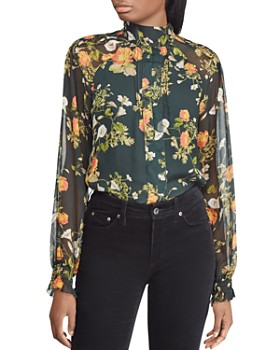 Ralph Lauren - Floral Print Mock-Neck Top