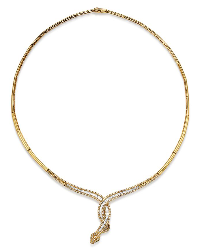 Bloomingdale's - Diamond Snake Necklace in 14K Yellow Gold, 1.85 ct. t.w. - 100% Exclusive