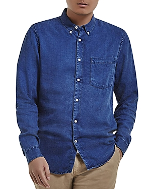 NN07 Falk 5767 Denim Regular Fit Button-Down Shirt