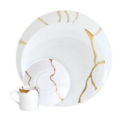 Kintsugi-Sarkis 24K Gold Bread & Butter Plate