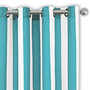 Elrene Home Fashions Aiden Stripe Indoor/Outdoor Curtain Panel, 50 x 95